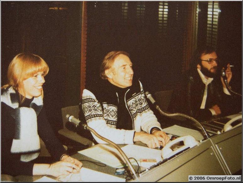 Foto 1-1. BrandPunt Studio 6,1980 vlnr Yvette Lichtenberg, Piet Kaart (de vader van Marnix) en Hugo