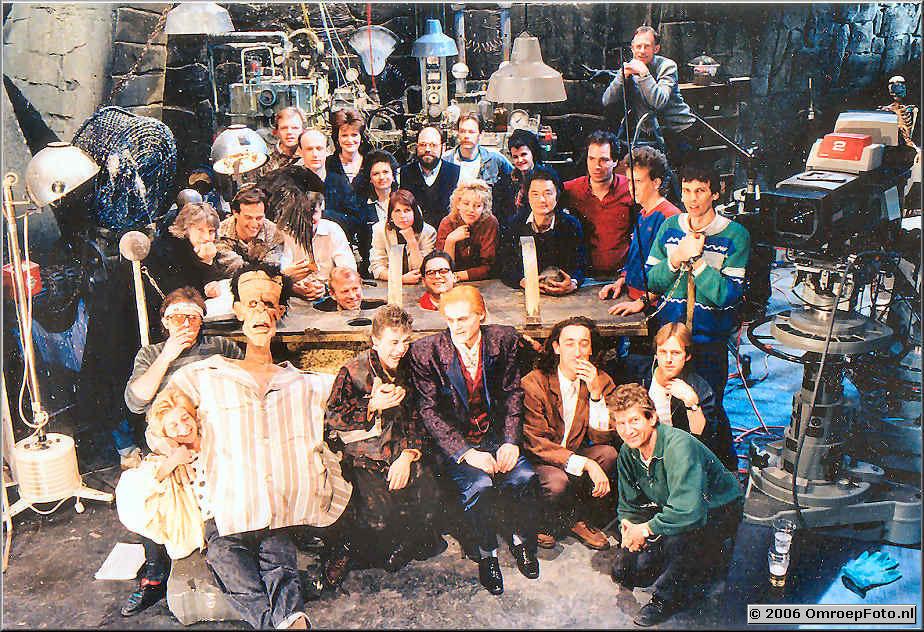 Foto 2-33. Dr Frankenstein maart '87 VPRO oa. Koos van der Kooi, Wil Zuiderduin, Rob BlomQuist, Will