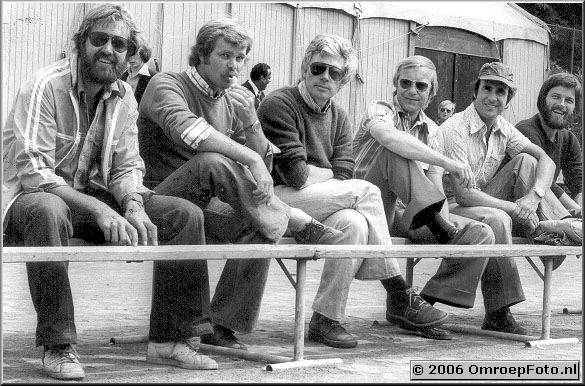 Foto 5-84. Juni 1977 'Het MelkHuisje', Frank Thomasse , Roel Deen, Guus Wondergem, Frans van Rheenen, Harry Stelling, Bart Doets