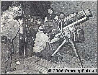 Foto 5-86. MaansVerduistering - 1981 LDK14 met een Varotal 3 erop Een accu van de acculamp moest de zaak een beetje in balans houden.