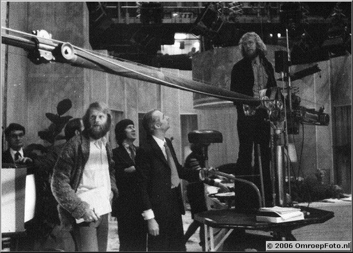 Foto 7-131. BBC november '75 Hylke Beerstra, Koos Schalk en Hans Chevalier