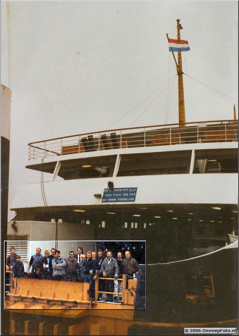 Foto 8-150. Op de boot naar Texel