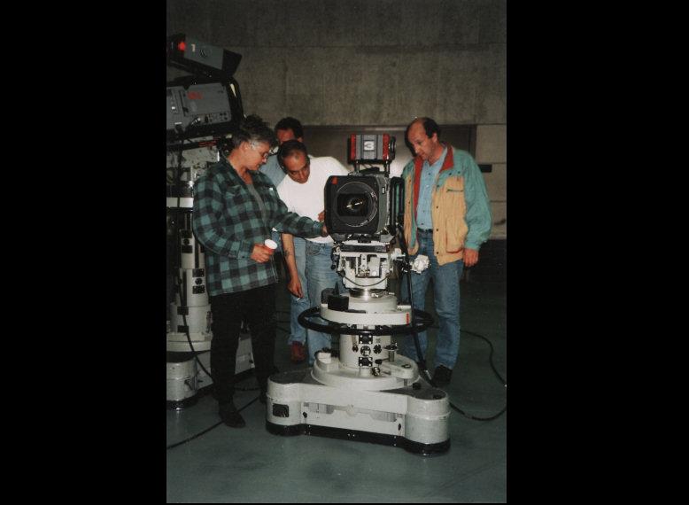 Doos 108 Foto 2160. 30-5-1995 De nieuwe LDK-9 Met Evelyn Dekeukeleire, Andy Toen en Ton Pannen