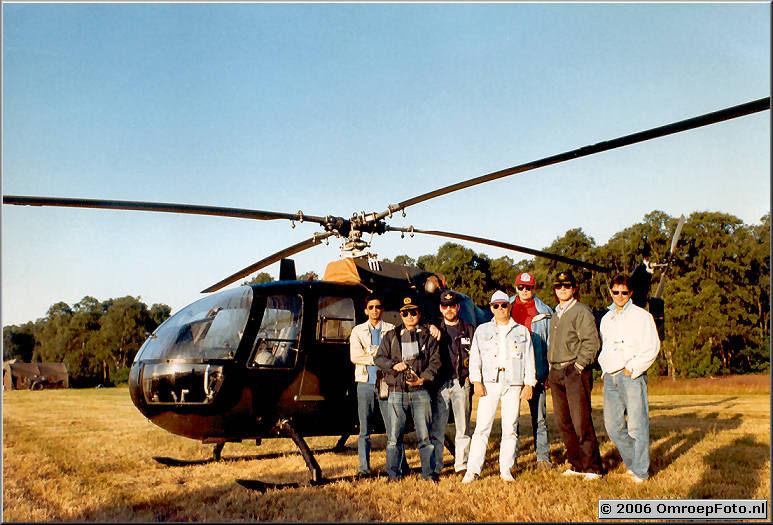 Foto 13-247. Ram Soekhoe, Ken Lee, Henk Eitink, Sjors Mutsaers, Bertus Duiven, Eugenio Follender en Rudi Komaromi