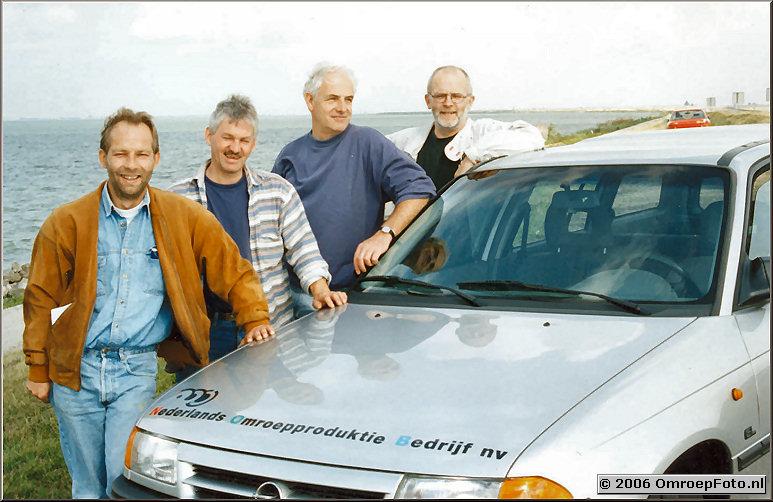 Foto 25-485.Hans, Ben, Bert en Carel