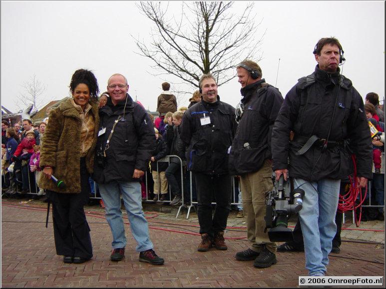 Foto 29-567. SinterKlaas Intocht 2002 Aldith, Gert, Edgar, Hidde en Rudi