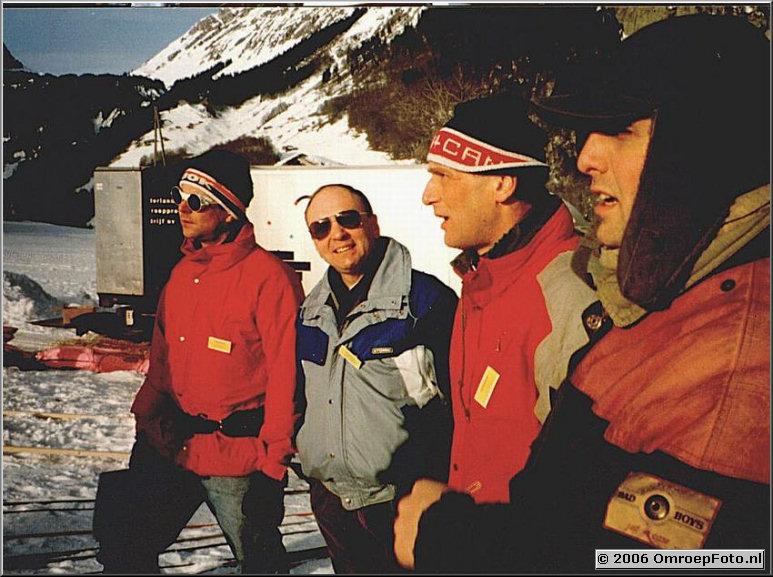 Foto 30-597. 'Blij dat ik glij' voor de TROS in AU Oostenrijk 1992