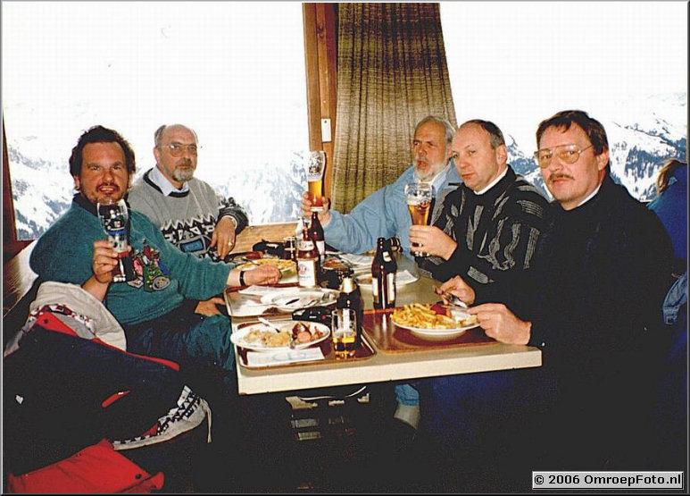 Foto 30-598. 'Blij dat ik glij' voor de TROS in AU Oostenrijk 1992