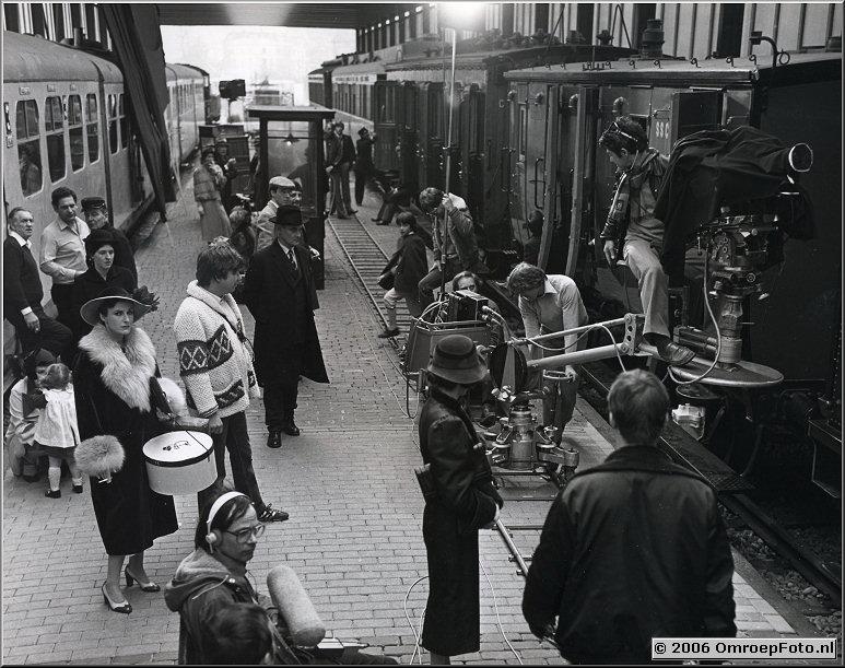 Foto 39-774. Opname dramaproductie in Spoorwegmuseum