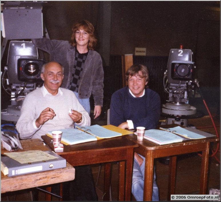 Foto 39-780. Opname 'Dagboek Anne Frank' met regisseur Hank Onrust en script-girl Marjolein Mulder