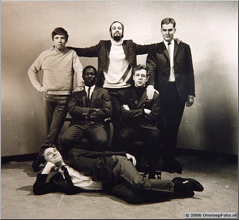 Foto 40-786. Cameracursus '1967' op Sandbergen, Met Marcel Pruijt, Frans de Bruijn, Johnny Dundas, Frans Dupont en Frans Goedhart