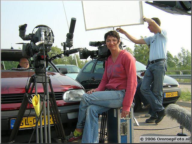 Foto 41-816. Opnames voor 'Met één been in het graf' Ijburg 2006