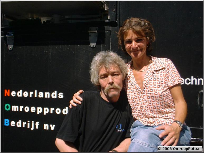 Foto 45-887. Een sterk lichtteam : Henk en Martine