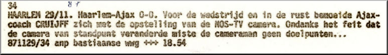 Foto 47-928. Een week later werd Cruyff ontslagen...