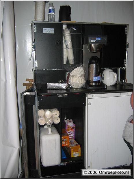 Doos 61 Foto 1202 KoffieHoek in een Flightcase! Dat is handig