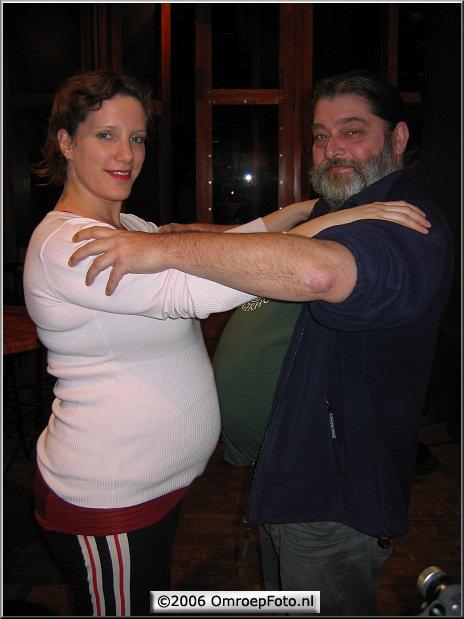 Doos 66 Foto 1307. Inmiddels beroemde foto van zwangere Daniëlle en WebMaster Wim