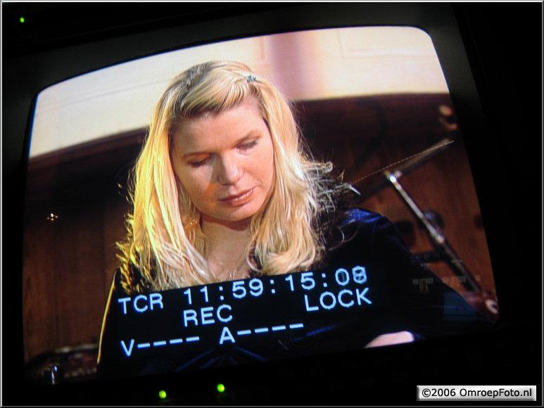 Doos 66 Foto 1313. Actrice Tjitske Reidinga in 'Klokhuis'