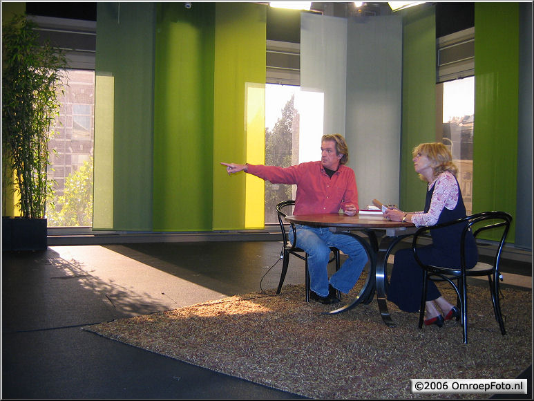 Doos 68 Foto 1350. Programma 'Boeken' in Studio 3