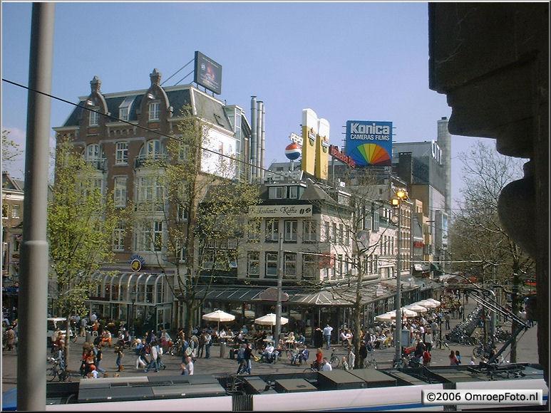 Doos 70 Foto 1398. TV 3. Uizicht op het Leidse Plein (vanuit de StadsSchouwburg Amsterdam)