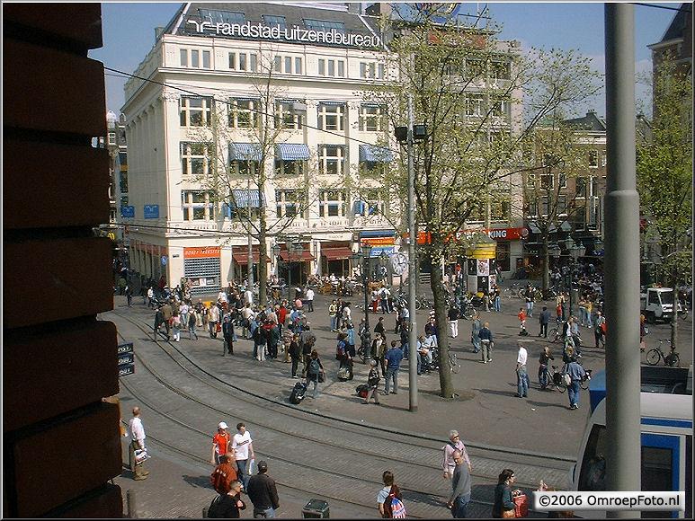 Doos 70 Foto 1400. Uitzicht op het Leidse Plein. StadsSchouwBurg Amsterdam