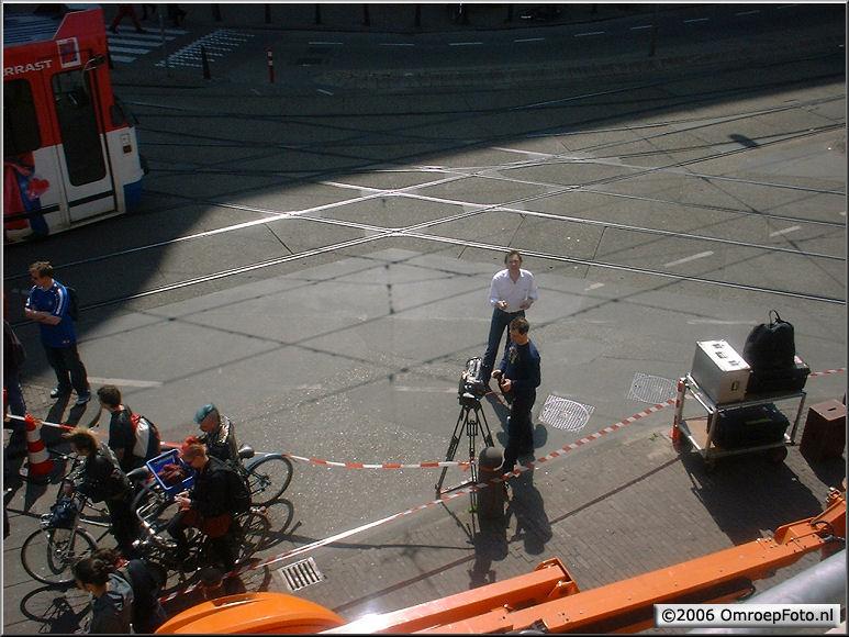Doos 71 Foto 1403. Buitenopnamen voor TV 3 in StadsSchouwBurg Amsterdam