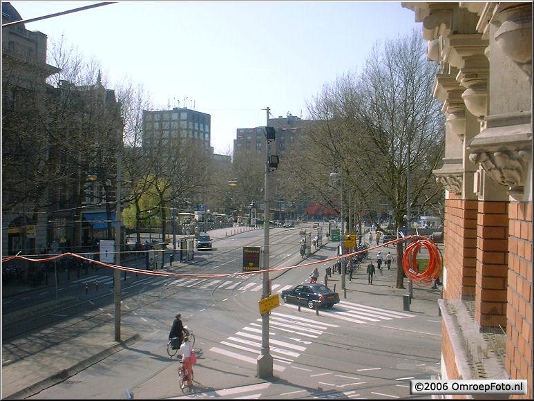 Doos 71 Foto 1405. Triax-overspanning bij de StadsSchouwburg Amsterdam