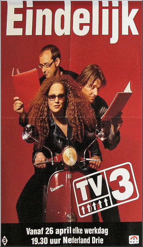Doos 73 Foto 1451. Aankondiging voor het nieuwe programma TV 3