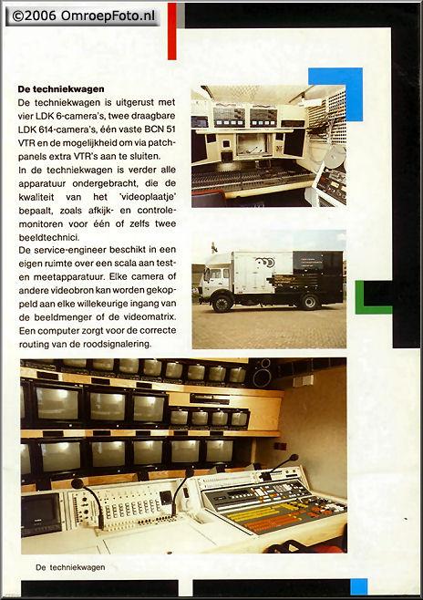 Doos 74 Foto 1474. Folder voor de splinternieuwe treinen in 1989. (Let op de foutieve plaatsing van de foto's!...)