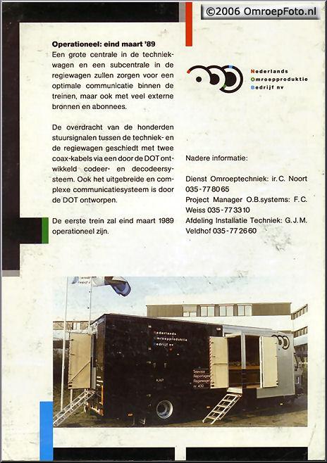 Doos 74 Foto 1475. Folder voor de splinternieuwe treinen in 1989