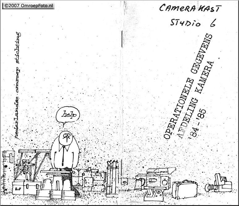 Doos 82 Foto 1625. Cameraboekje 1984-85 Getekend door Guus Wondergem. Hij had in de voorloper van de Spreekbuis ook een stripverhaal