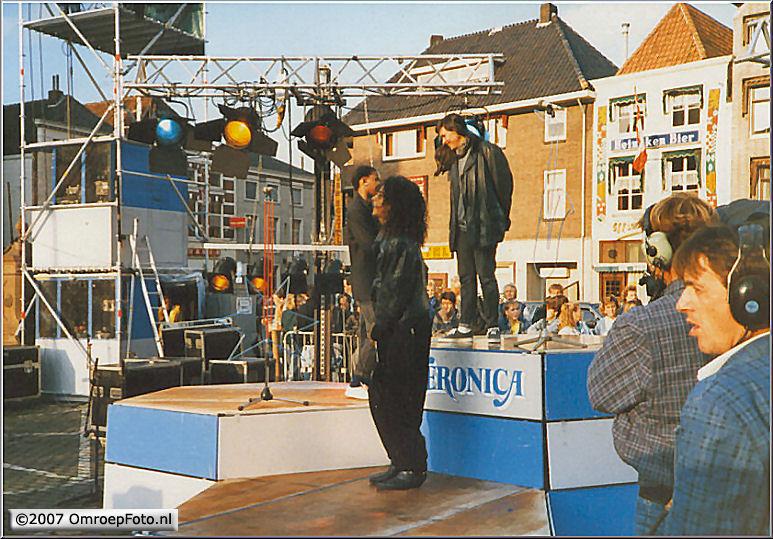 Doos 82 Foto 1638. Nederland Muziekland. Met oa cameraman Roel Deen en Bert Stecher