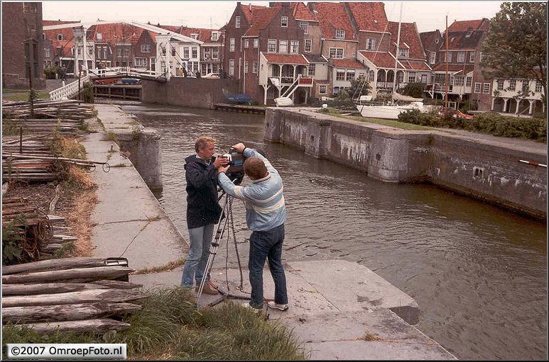 Doos 96 Foto 1911. 1986 Rond het IJselmeer met Marco Bakker. Enkhuizen