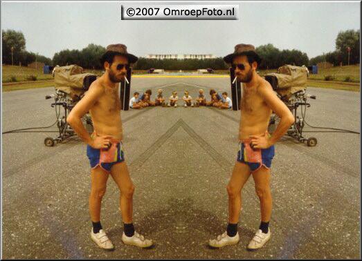 Doos 99 Foto 1974. Frans Kuijper dubbelportret ....Achteruitrijden Circuit Valkenswaard 1983